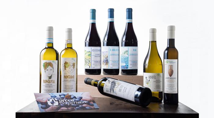 Bottiglie di vino Cournaja